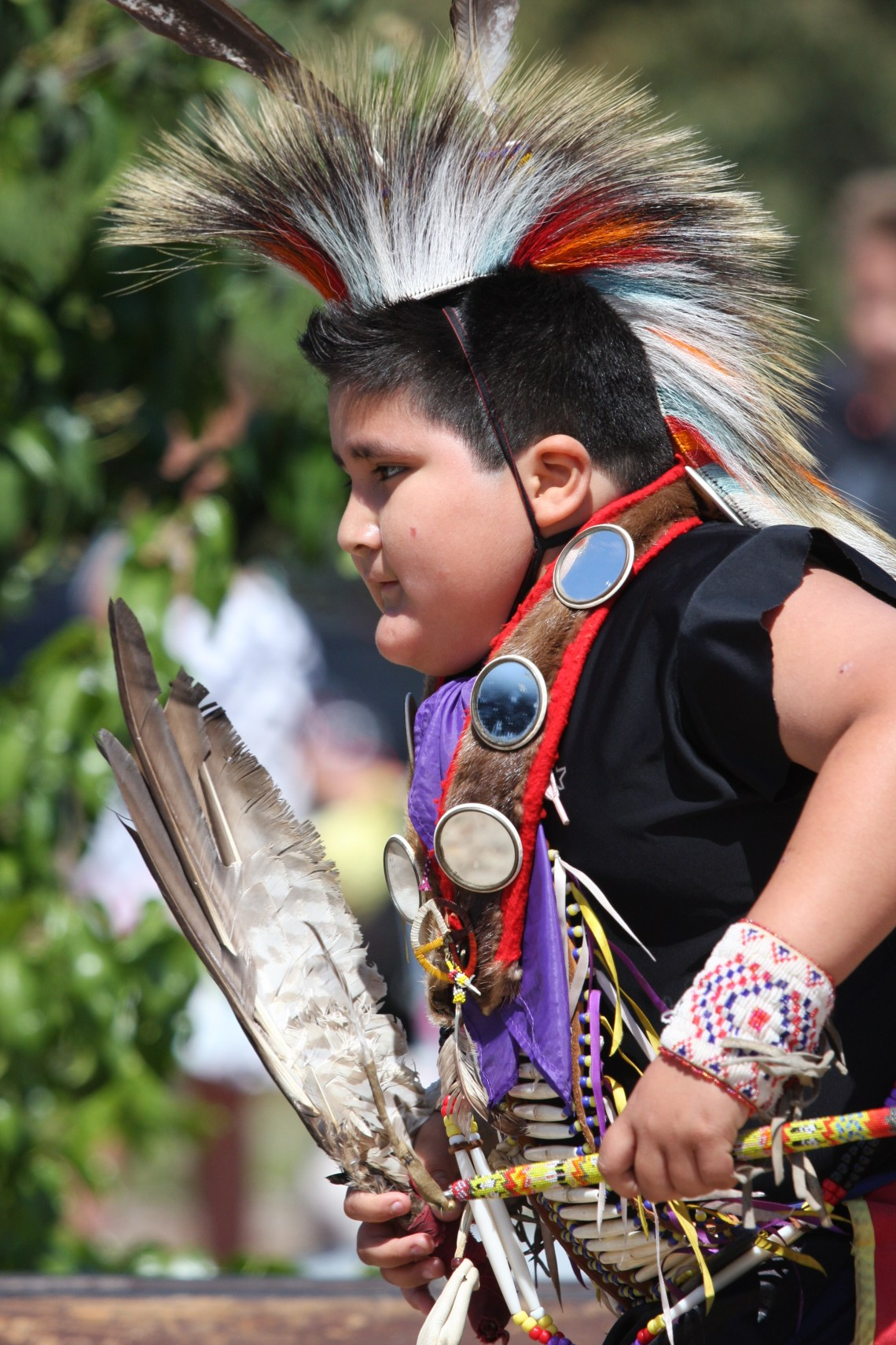 A young dancer visiting from Arizona performs a traditional dance at Sunday's event. Photo by Andrea Swayne