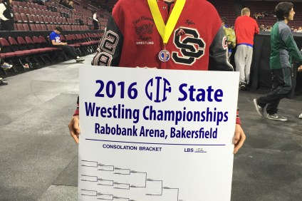 San Clemente senior wrestler Tyler Meisinger will compete at the National High School Wrestling Championships on March 31. Photo: Courtesy