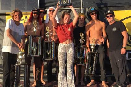 The San Clemente High School Junior Varsity team had a great showing at the NSSA National Interscholastic Championships at Salt Creek in Dana Point. Photo: Kurt Steinmetz