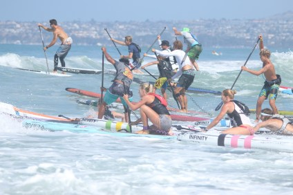 Hundreds took to the water at the 2016 San Clemente Ocean Festival. Photo: Eric Heinz