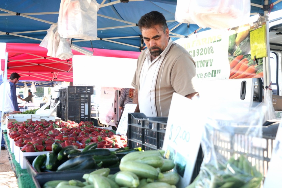 Fresh fruit, vegetables, bread, fish and more was available at the first Wednesday of the North Beach farmers market on April 12.