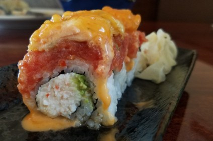 The Golden Sushi Roll. Photo: Allison Jarrell