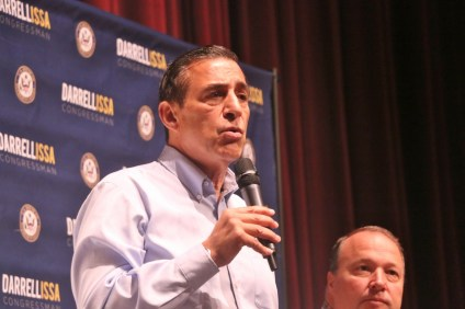 Rep. Darrell Issa, (R) CA-49, hosted a town hall meeting on Saturday morning, June 3, at San Juan Hills High School in San Juan Capistrano. Photo: Eric Heinz