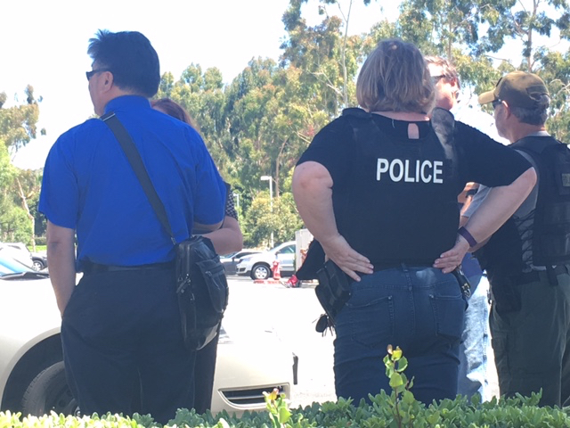 Orange County Sheriff's Department officials and FBI talk outside of Sovereign Health in San Clemente, CA on Tuesday, June 13, 2017. Photo by Eric Heinz