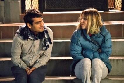"Kumail Nanjiani as ""Kumail"" and Zoe Kazan as ""Emily"" in THE BIG SICK. Photo by Sarah Shat / Amazon Studios"