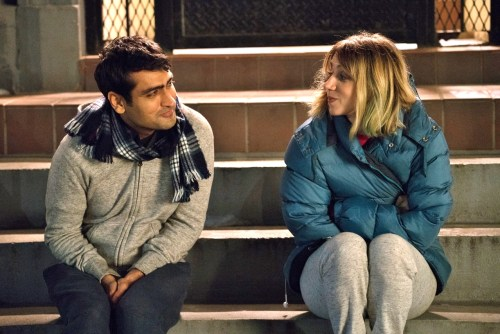 "Kumail Nanjiani as ""Kumail"" and Zoe Kazan as ""Emily"" in THE BIG SICK. Photo by Sarah Shat / Amazon Studios"