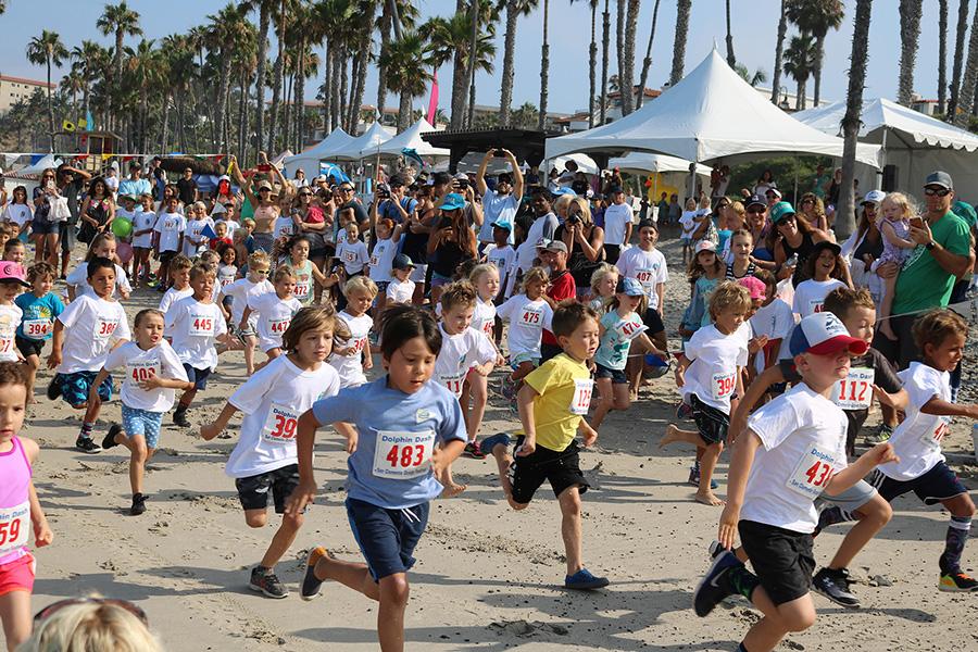 Kids take part in a 1K fun run during Ocean Fest. Photo: Eric Heinz