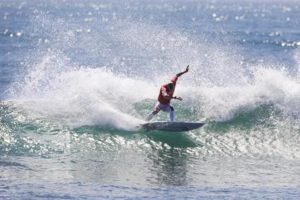 Kolohe Andino will have a chance to advance to Round 3 at the Hurley Pro. Photo: Courtesy of WSL/Sean Rowland