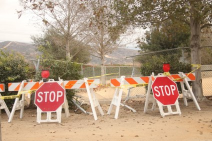 The larger portion of Baron Von Willard Memorial Dog Park, 301 Avenida La Pata, will be closed off to the public until the city mends the fence, pictured here Oct. 30. Photo: Eric Heinz