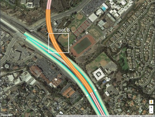 A screen shot of the documents on the city of San Clemente website appear to show plans for extending the I-5 freeway and possible access ramps along the toll road proposal No. 14. There are 20 proposals still on the table as the Transportation Corridor Agencies continues to do environmental research. Photo: Extracted from www.san-clemente.org.