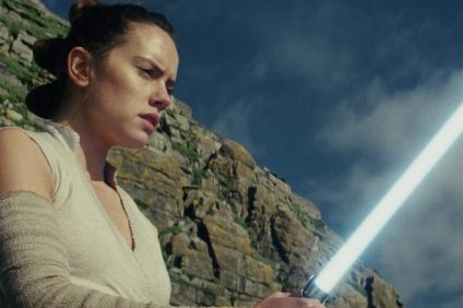 The Last Jedi..Rey (Daisy Ridley)..Photo: Industrial Light & Magic/Lucasfilm. Copyright 2017 Lucasfilm Ltd. All Rights Reserved.