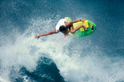 Martin Potter hits a wave during a surf session at T-Street in this photo, circa 1990. Photo: Copyright Flame/A-Frame