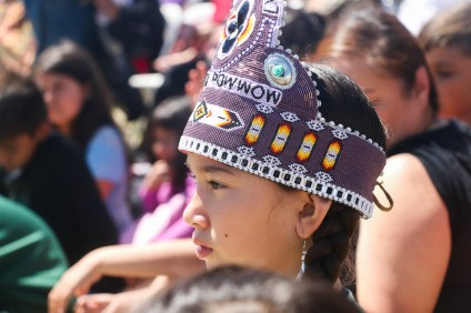 A young girl watches the performances at last year's Panhe festival. Photo: File