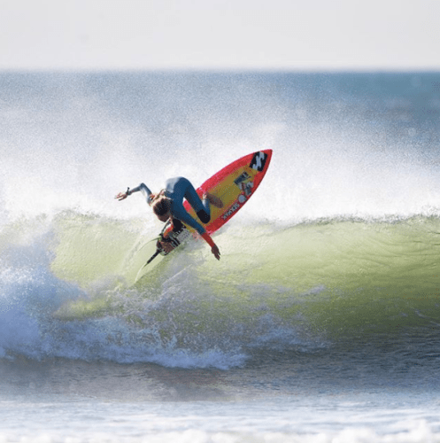 Bella Kenworthy indulges herself on a recent trip to Chicama in Peru. The wave is considered the longest left-hander in the world. Photo: Jason Kenworthy