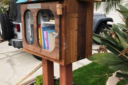 Little Free Libraries have been growing since 2009, according to the nonprofit's website. There are a few located in San Clemente, like this one on the 800 block of Camino de los Mares. Photo: Courtesy of Mike and Sandy Woodward