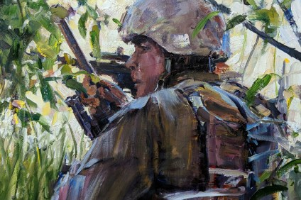 Soldiers on a mission are a frequent theme in Ryan Jensen's photography. Jensen was part of the San Clemente Art Association's Military Art Program and he will return to participate in this year's Paint San Clemente, which takes place June 23 to July 1. Photo: Courtesy of Ryan Jensen