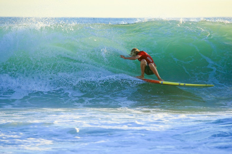 San Clemente's Kai McPhillips has already had a successful spring season after winning the WSA West Coast Surfing Championship under 16 division in May. He'll have a chance to pick up more hardware at the NSSA events in the next couple of weeks. Photo: Courtesy of Kurt Steinmetz/NSSA