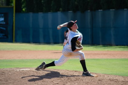 Kolby Allard (pictured with San Clemente in 2015) has moved swiftly through the Atlanta Braves organization and is considered the team's No. 5 prospect by MLB. Photo: File