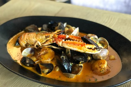 One of the seafood dishes from Fig 313, a new restaurant in San Clemente, that is part of the 'new-American' menu the restaurant has put together. Photo: Courtesy of Tracy Wilson