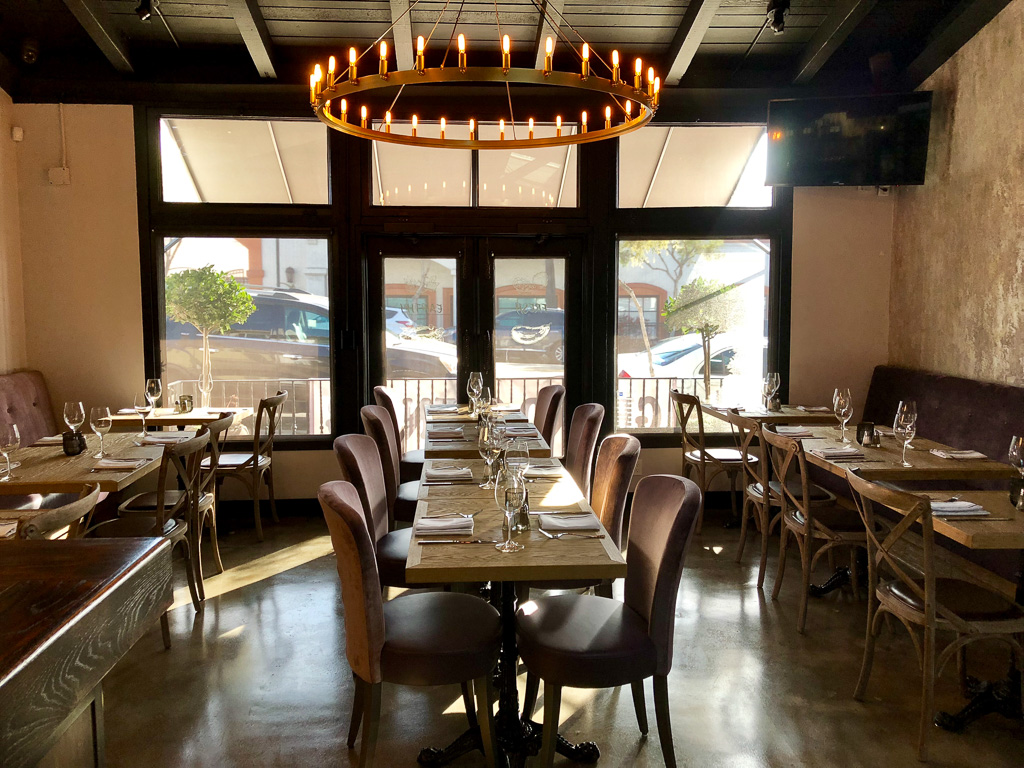 The indoor dining room of Fig 313, a new restaurant in San Clemente. Photo: Courtesy of Tracy Wilson