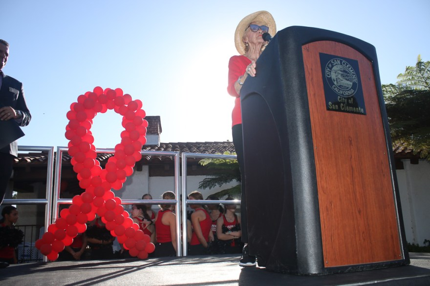 Jan Sener was recognized on Monday, Oct. 15, for her decades of work with Red Ribbon Week, which is dedicated to keeping youth from using and abusing drugs.