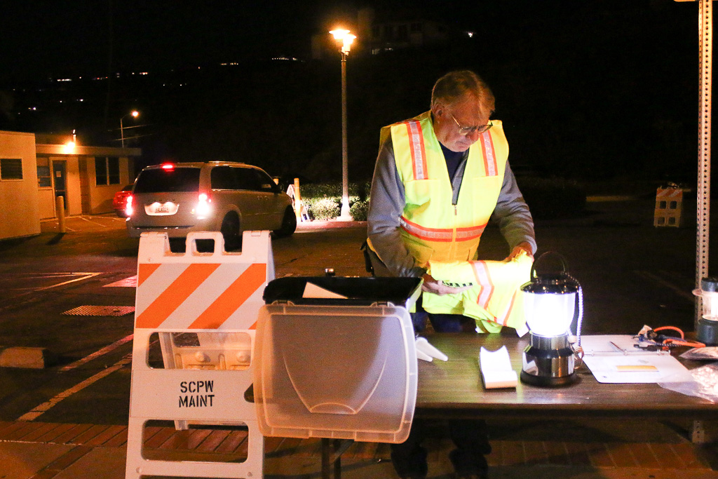 Volunteers with the Orange County Registrar's Office collected ballots at old San Clemente City Hall after the polls closed at 8 p.m. on Tuesday, Nov. 6. Photo: Eric Heinz