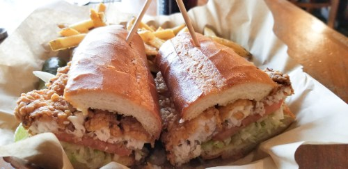 Catfish Po' Boy from Bad to the Bone BBQ. Photo: Alex Groves