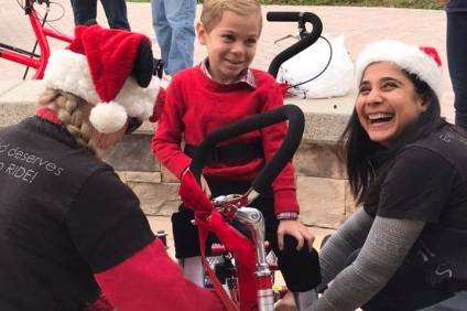 OC Special Spokes recently received a grant from the San Clemente Rotary Club, money that will be used to fund the bicycles they provide to children with special needs. Photo: Courtesy of OC Special Spokes