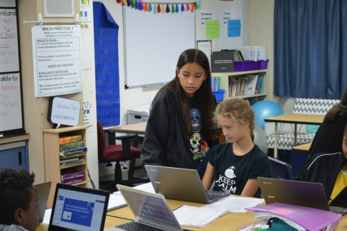 """Students receive extra tutoring during one of Bernice Ayer Middle School's School Wide Educational Learning Lab, or """"Swell."""" The program was recently recognized for its success in helping children improve their grades in certain coursework. Photo: Andrea Clemett"""