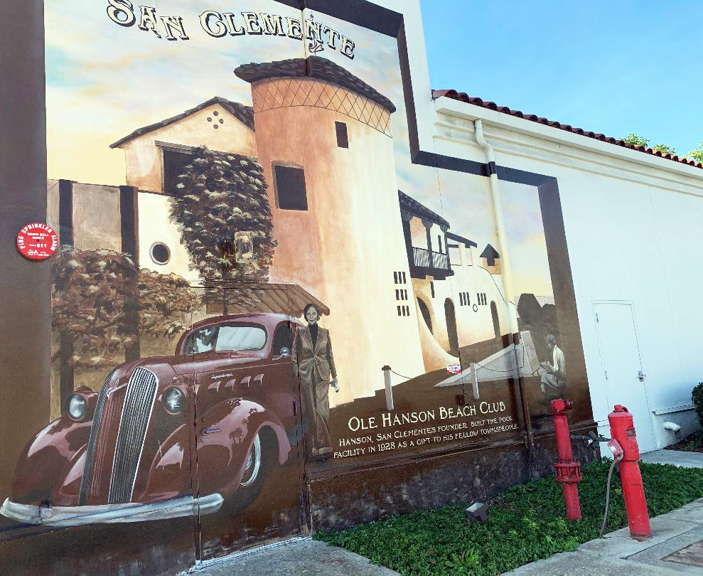When Hanson's Market closed on Avenida Pico, art fans were saddened to see this mural disappear when the building was repainted. In response to popular demand, the mural was reborn. Photo: Fred Swegles