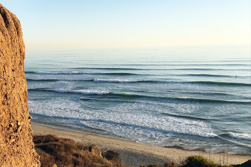 """The Trails"" at San Onofre in all its uncrowded glory. Photo: Jake Howard"