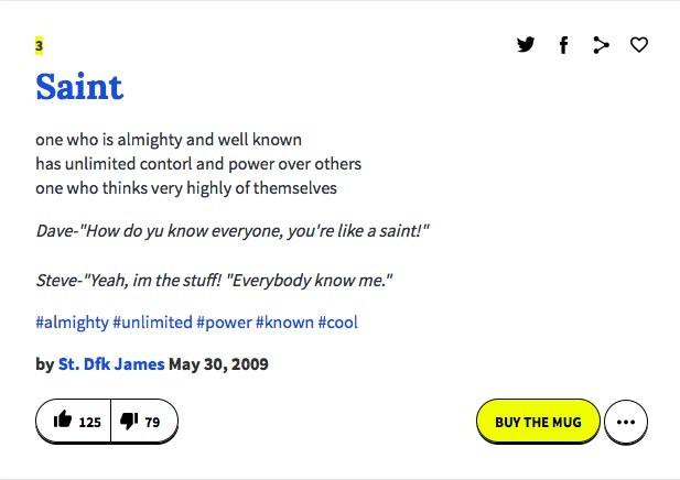 Ecco un esempio tratto da Urban Dictionary