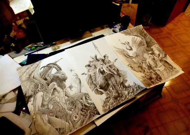 Lo sconvolgente Trittico realizzato da Michele D'Aloisio