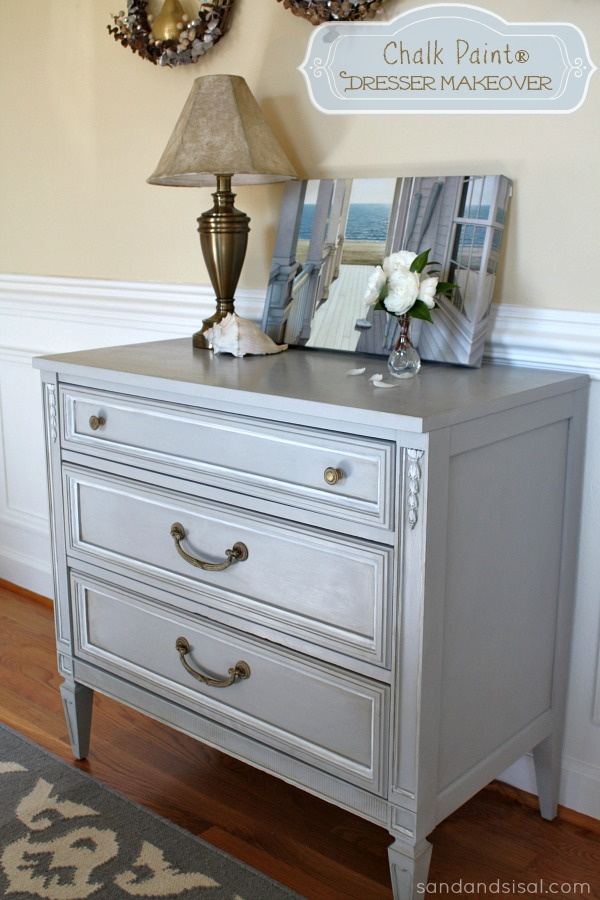 Chalk Paint® Dresser Makeover (Part 2 Using Wax) - Sand And Sisal