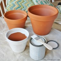 How to Paint Terracotta Pots - Sand and Sisal