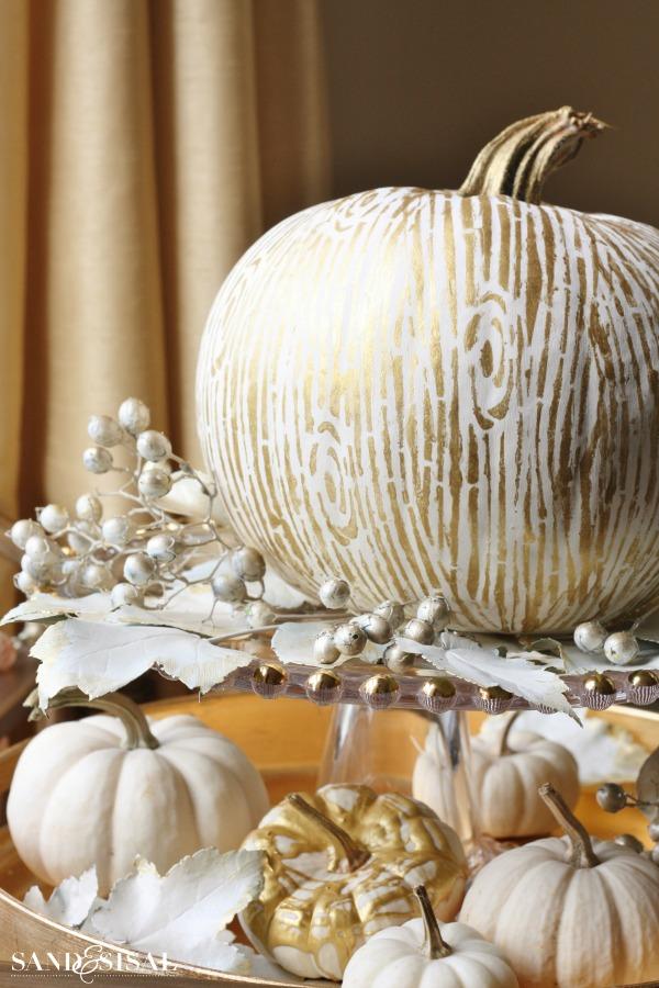 Fall Coastal Desktop Wallpaper Gilded Faux Bois Pumpkin Sand And Sisal