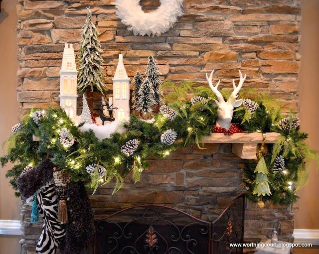 10 Christmas Mantel Ideas - Sand and Sisal - christmas mantel decor