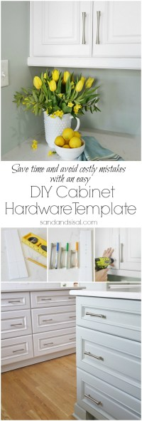 DIY Cabinet Hardware Template