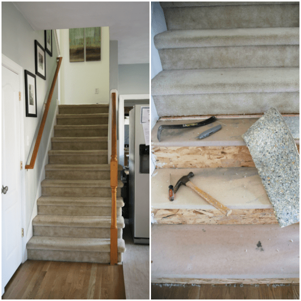 Ripping Up Carpet From Stairs