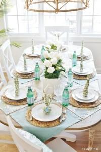 Easter Bunny Napkin Fold and Table Setting Idea - Sand and ...