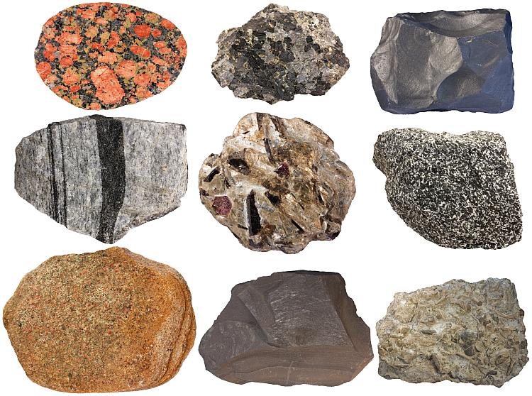 Composition of the crust - Chemical elements, Minerals, Rocks