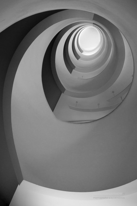 Underside of the stairs in the university library of Lyon.