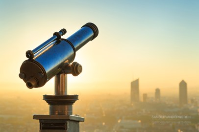 Telescope and panoramic view from Fourviere.
