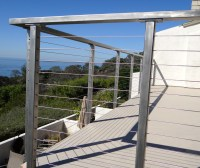 Stainless Steel Deck Railing Posts (Bare) |Cable Railings ...