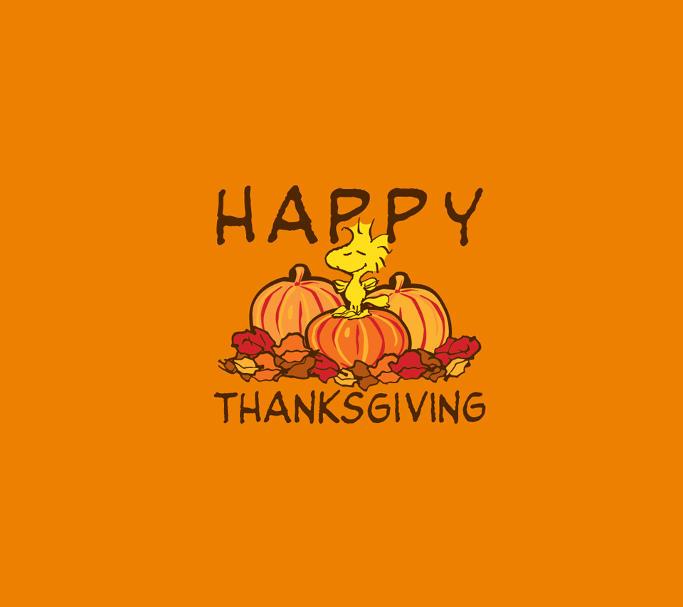 Cute Snoopy Wallpaper Happy Thanksgiving