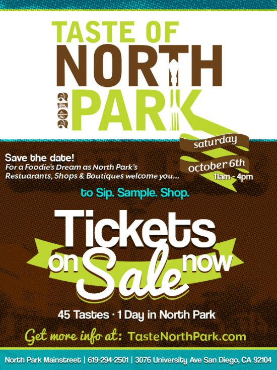 The Upcoming Taste of North Park  (North Park)