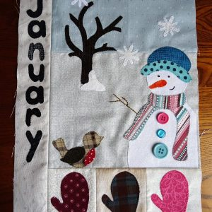 Sandra Healy Designs Calendar Quilt January Block