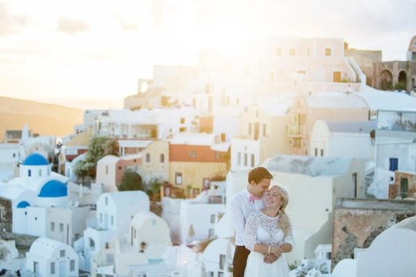 Josefin & Tobias Santorini destinationwedding