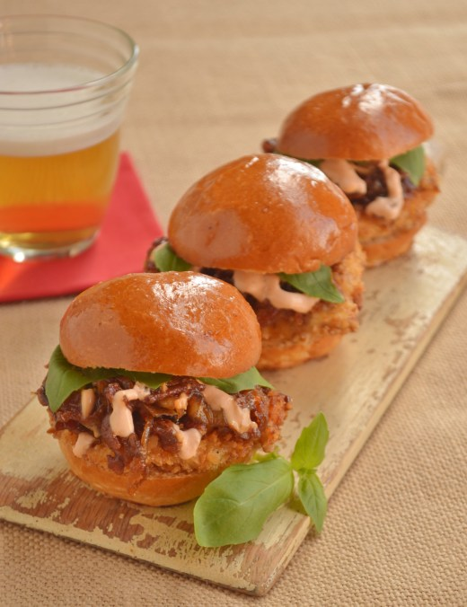Chevron Chicken Sliders
