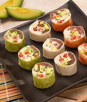 Fun Post Christmas Sandwiches - Avocado Sushi